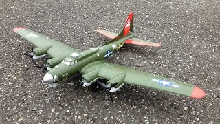 e flite umx b 17 flying fortress wwii bomber with as3x technology unboxing maiden and review