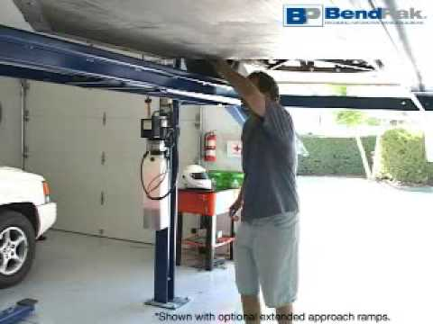 Home storage or parking car lift youtube for Over car garage storage