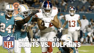 Giants vs. Dolphins | Week 14 Highlights | NFL