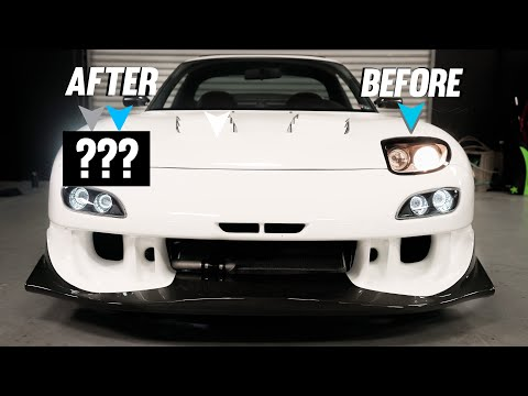 FINALLY CHANGED MY RX-7 HEADLIGHTS!!