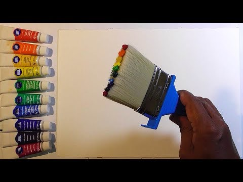 unique!-rainbow-painting-in-one-brush-stroke-watercolor-tutorial-technique