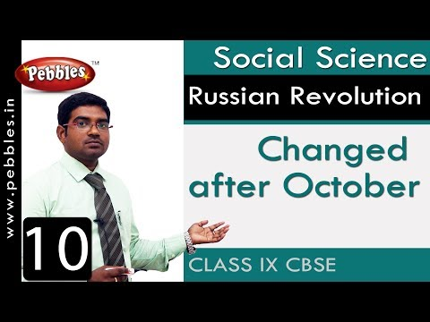 Changed After October : Russian Revolution | Social | CBSE Syllabus | Class 9