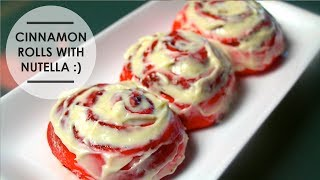 CINNAMON ROLLS WITH NUTELLA (RED) ♥ Thumbnail