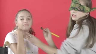 blindfolded makeup challenge with my sister maddie part 1
