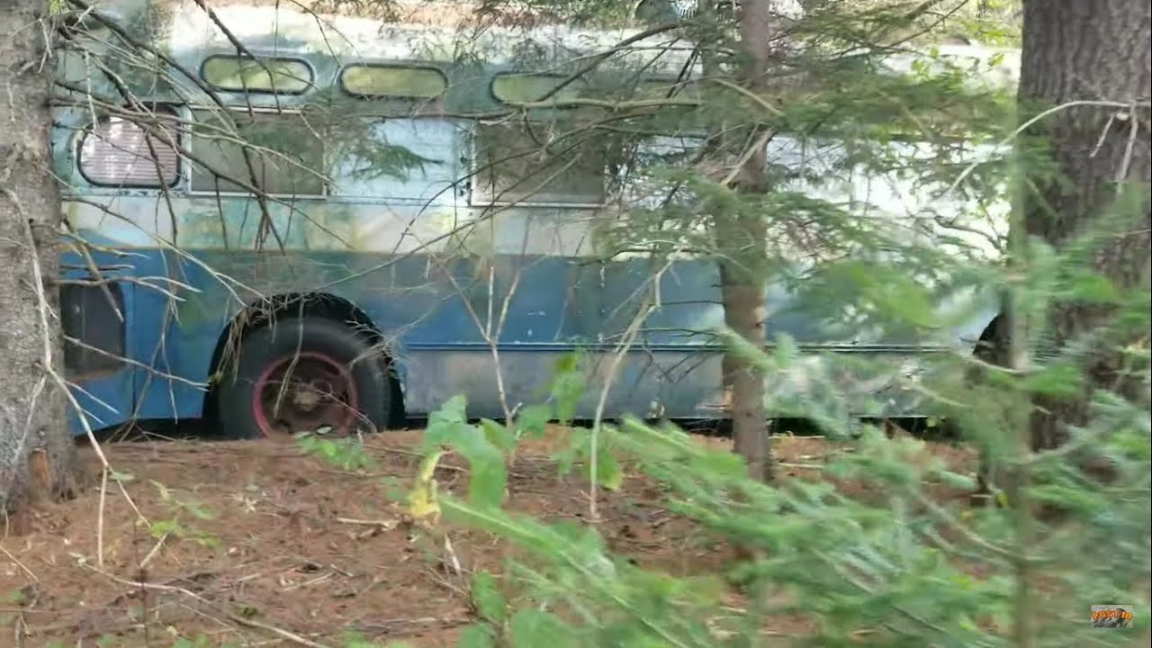 Inside Abandoned 1950s GM Motorhome Bus Conversion