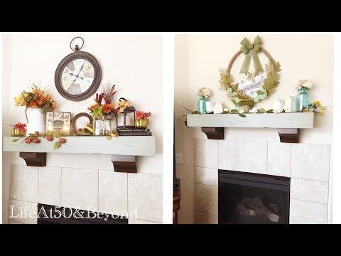 DIY Farmhouse Fall Decor || 2 EASY Dollar Store Fireplace Mantel Fall Decorations