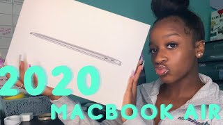 "2020 MACBOOK AIR UNBOXING! SILVER 13"" MACBOOK AIR"