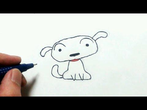 超簡単で可愛い犬の描き方 クレヨンしんちゃんのシロ Youtube