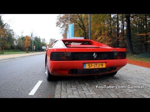 Ferrari Testarossa w/ Fuchs exhaust + race pipes! Backfiring sound!!