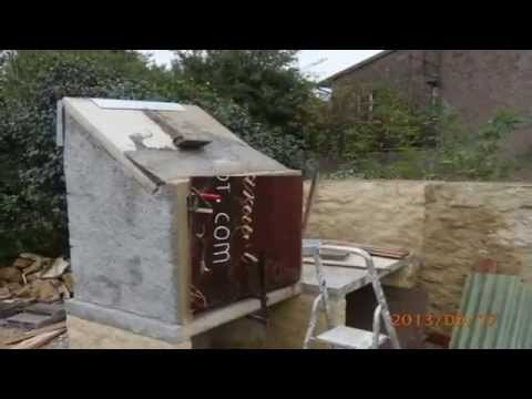 Construction d 39 un barbecue youtube for Fabrication barbecue exterieur