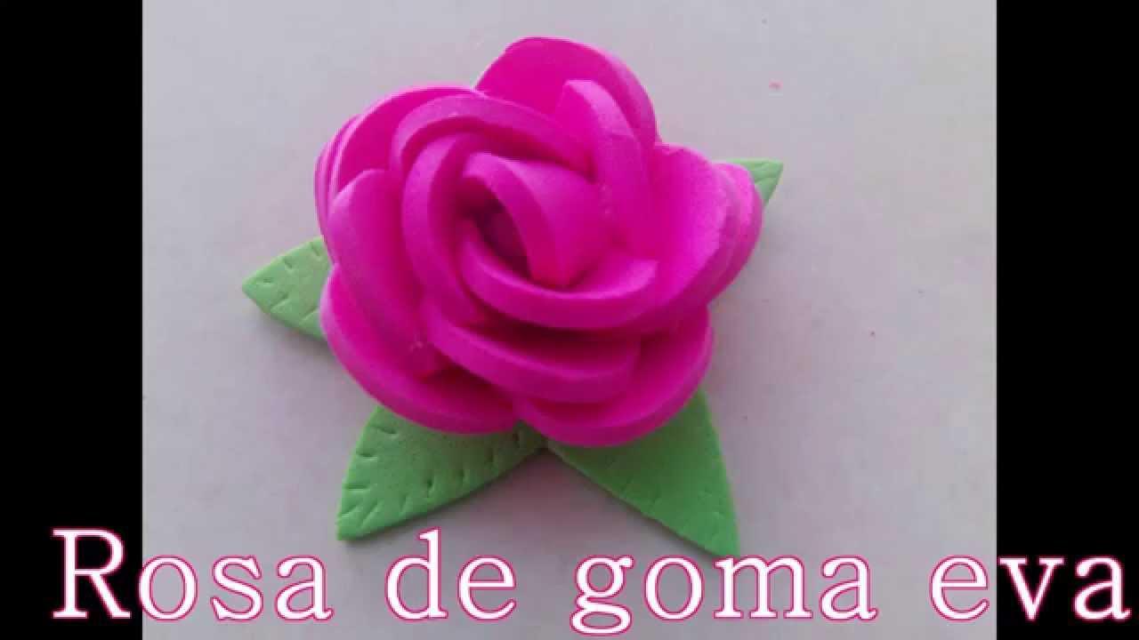 Rosa De Goma Eva Super Facil Youtube