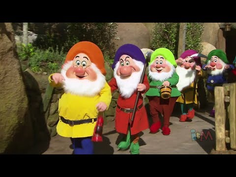 Seven Dwarfs off to work in Mine Train ride at Walt Disney World