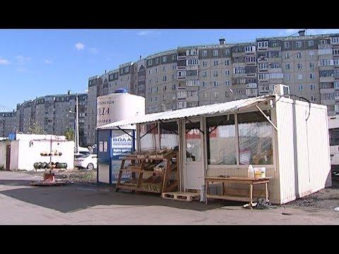Нелегальный киоск на северо-западе Челябинска