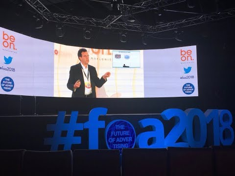 Conferencia Félix Muñoz Future Of Advertising FOA 2018 Madrid