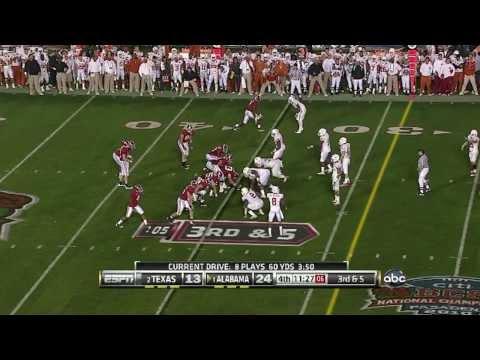 2010 BCS National Championship - Alabama Crimson Tide (1#) vs Texas Longhorns (2#)
