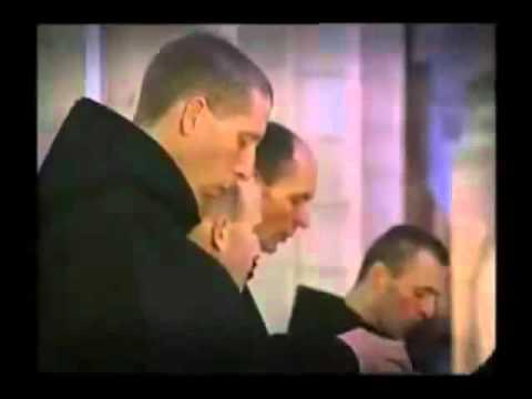 Monks singing Gregorian Chant in a Catholic Benedictine Seminary