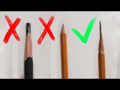 Как правильно точить карандаш?