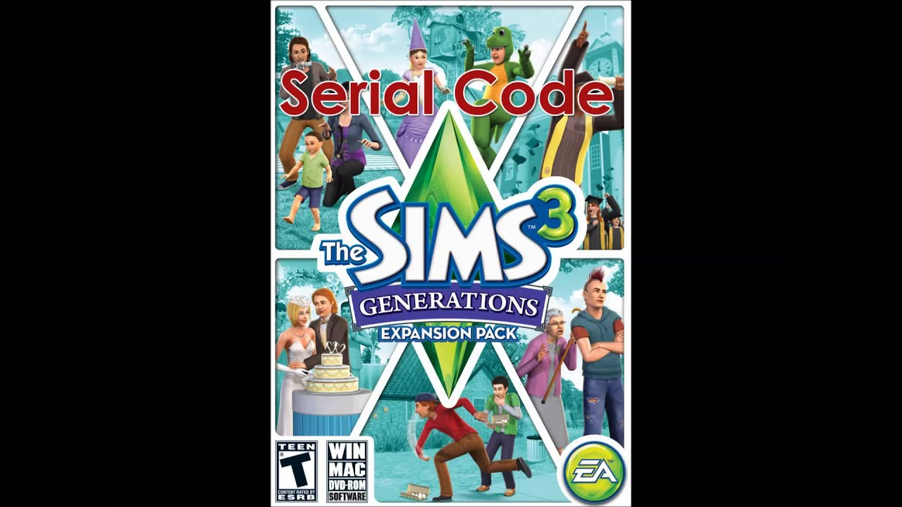 sims 3 generations registration code