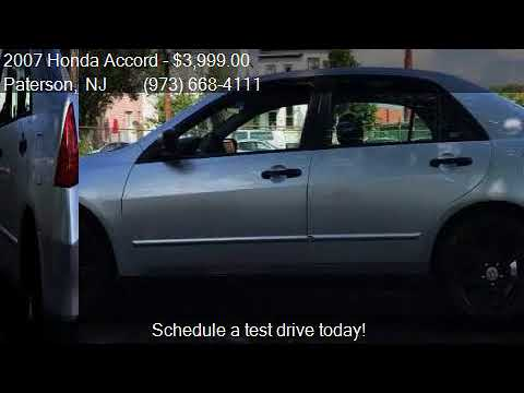 2007 Honda Accord Value Package 4dr Sedan 2 4l I4 5a For S