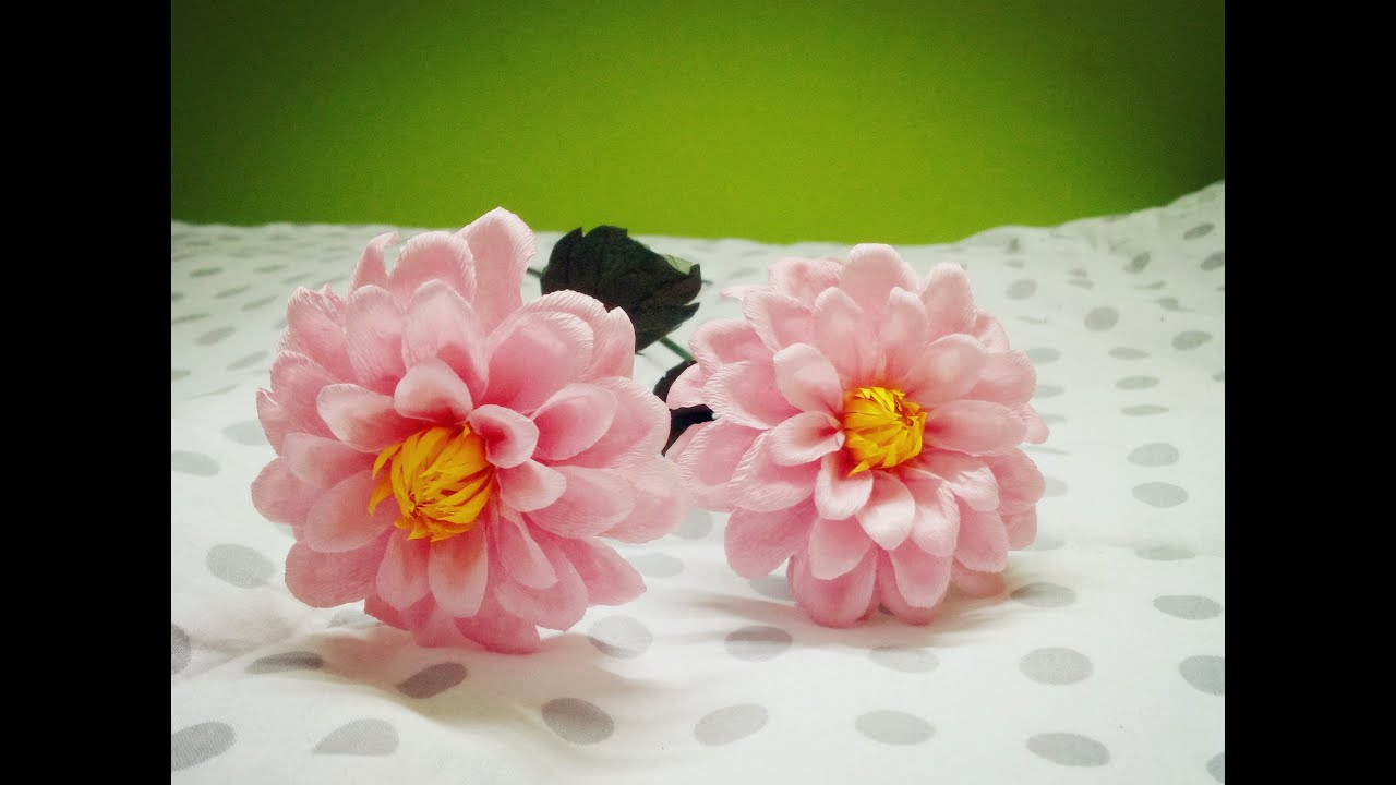Paper Flower Craft Youtube Romeondinez