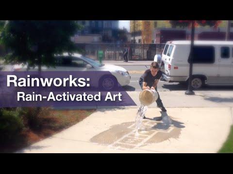 Rainworks - Rain-Activated Art