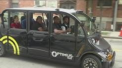 Driverless Vehicles At Brooklyn Navy Yard