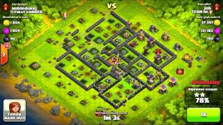 Clash of Clans - High level Raids 3600+ TEAM NL 100% Series Job VS Nobledukej GoWiWi