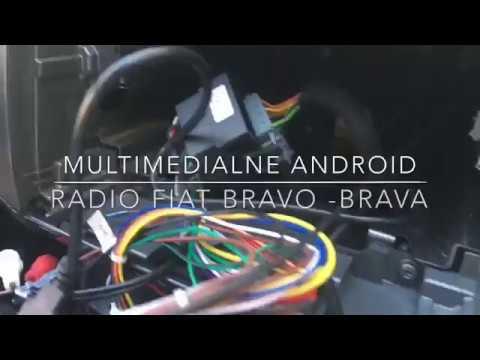 Removal multimedia radio Fiat Brava-Bravo  OCTO Core Android 7.0 + Igo maps