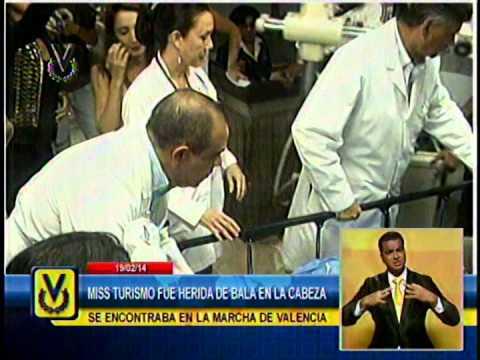 Génesis Carmona sigue en terapia intensiva tras recibir disparo en manifestaciones en Valencia
