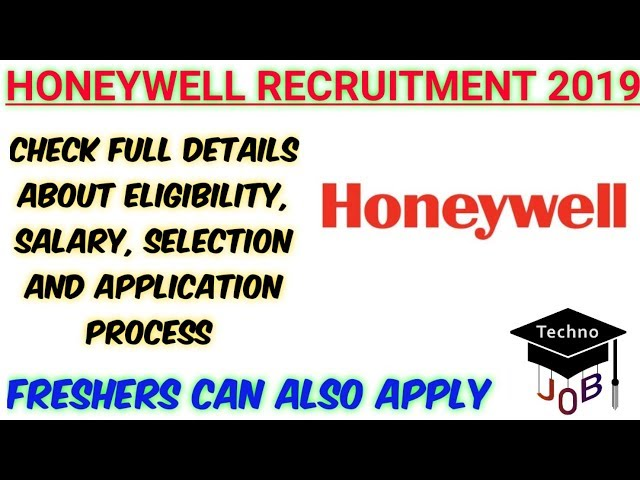 Honeywell Recruitment 2019 | Freshers | Graduate Trainee