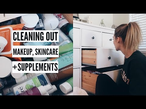 Organizing + Purging Makeup, Skincare + Supplements | MEL WEEKLY #40