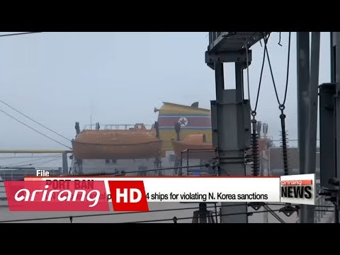 UN imposes global port ban on 4 ships for violating N. Korea sanctions