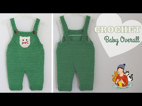 Crochet Baby Overall / Dungarees / Rompers