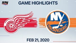 NHL Highlights | Red Wings vs. Islanders - Feb. 21, 2020