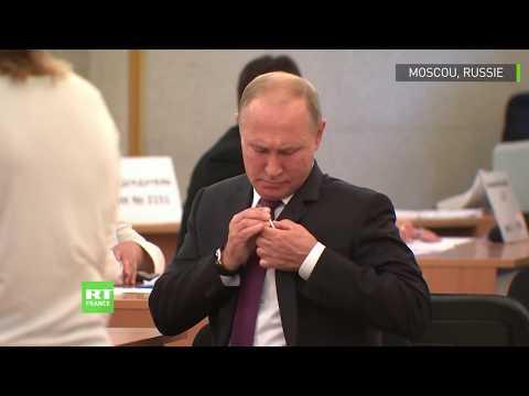 Elections locales en Russie : Vladimir Poutine s'est rendu aux urnes à Moscou