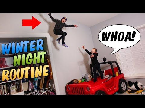 Twins Crazy Winter Night Routine