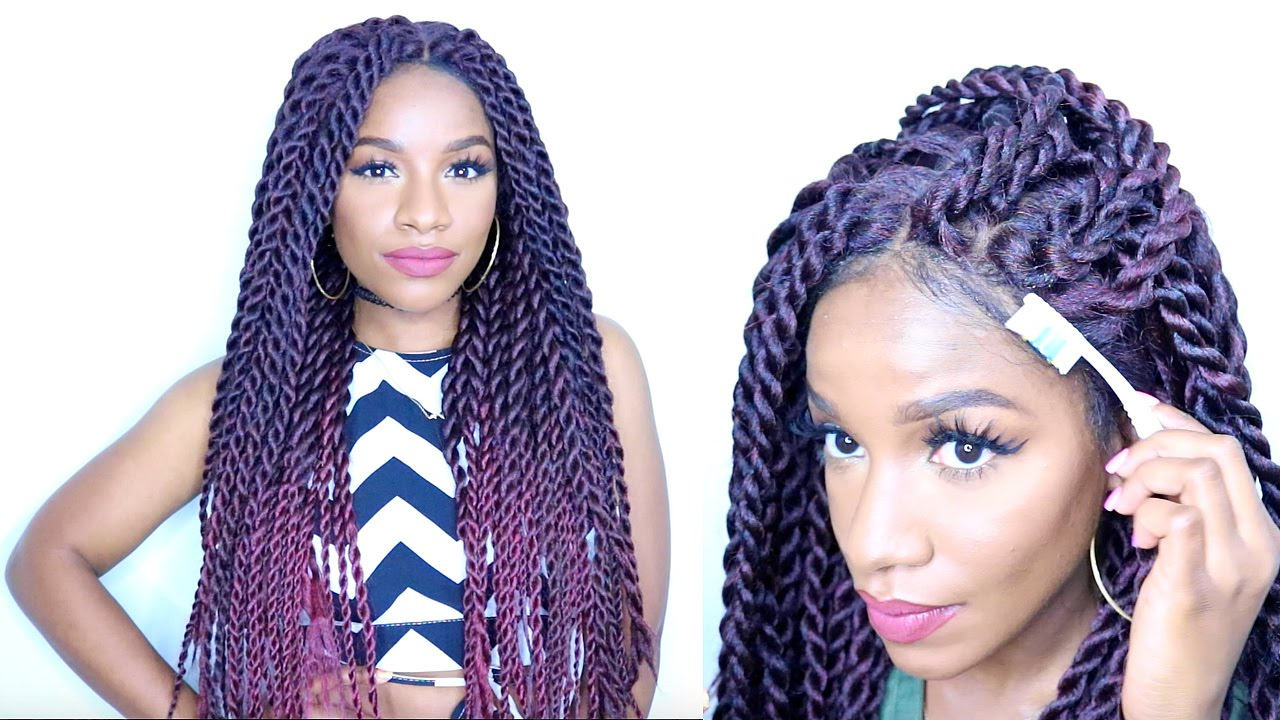 How To Style Braided Lace Wig⎮havana Twists⎮senegalese