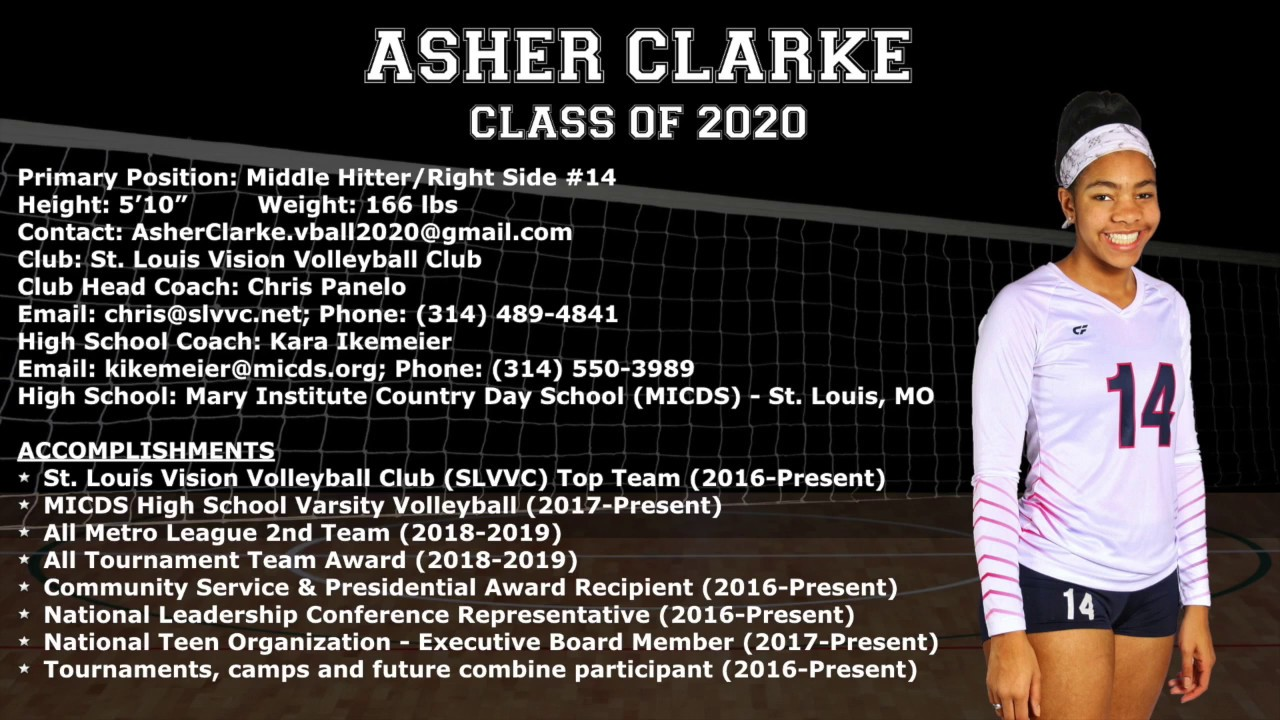Best College Volleyball Players 2020 Asher Clarke   Volleyball College Recruitment Video (Class of 2020