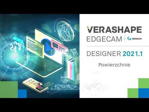 EDGECAM Designer 2021.1 - Powierzchnie