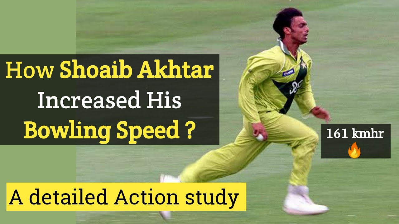 How shoaib akhtar Increased his bowling speed ? detailed bowling action analysis