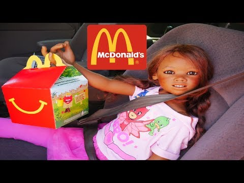 Silicone Baby Big Sister REBORN KID MALIA ORDER  HAPPY MEAL IN MCDONALDS DRIVE THRU For First Time