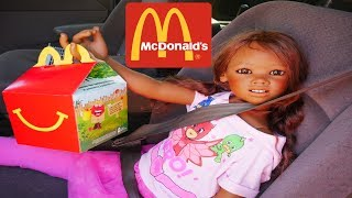 Silicone Baby Big Sister REBORN KID MALIA ORDER  HAPPY MEAL IN MCDONALDS DRIVE THRU For First Time malia. 検索動画 26