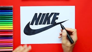 How to draw and color Nike Logo