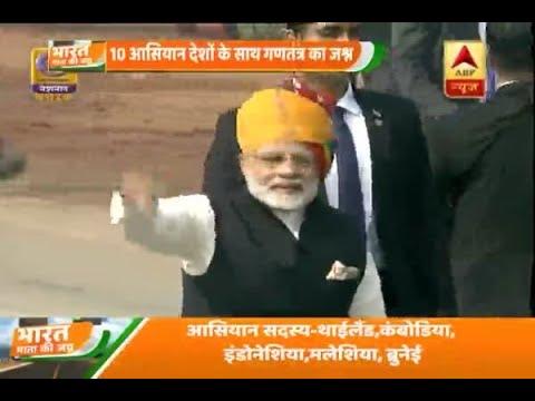 Republic day 2018: PM Narendra Modi greets crowd at Rajpath post parade
