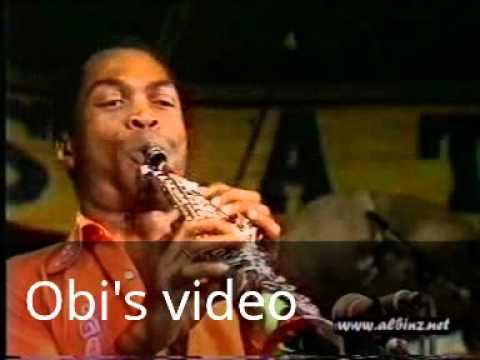 Fela kuti. Live on stage
