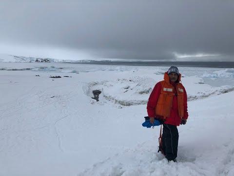 Akhil Bakshi in Chilean Antarctica