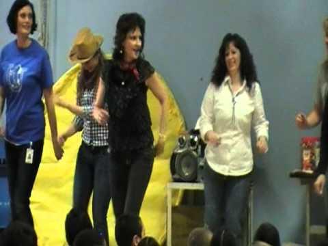 "Myers Elementary School Staff Dancing the ""Cotton Eyed Joe"""