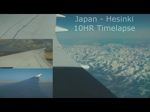 Full Flight Tokyo to Helsinki Japan Airlines Timelapse Boeing 787