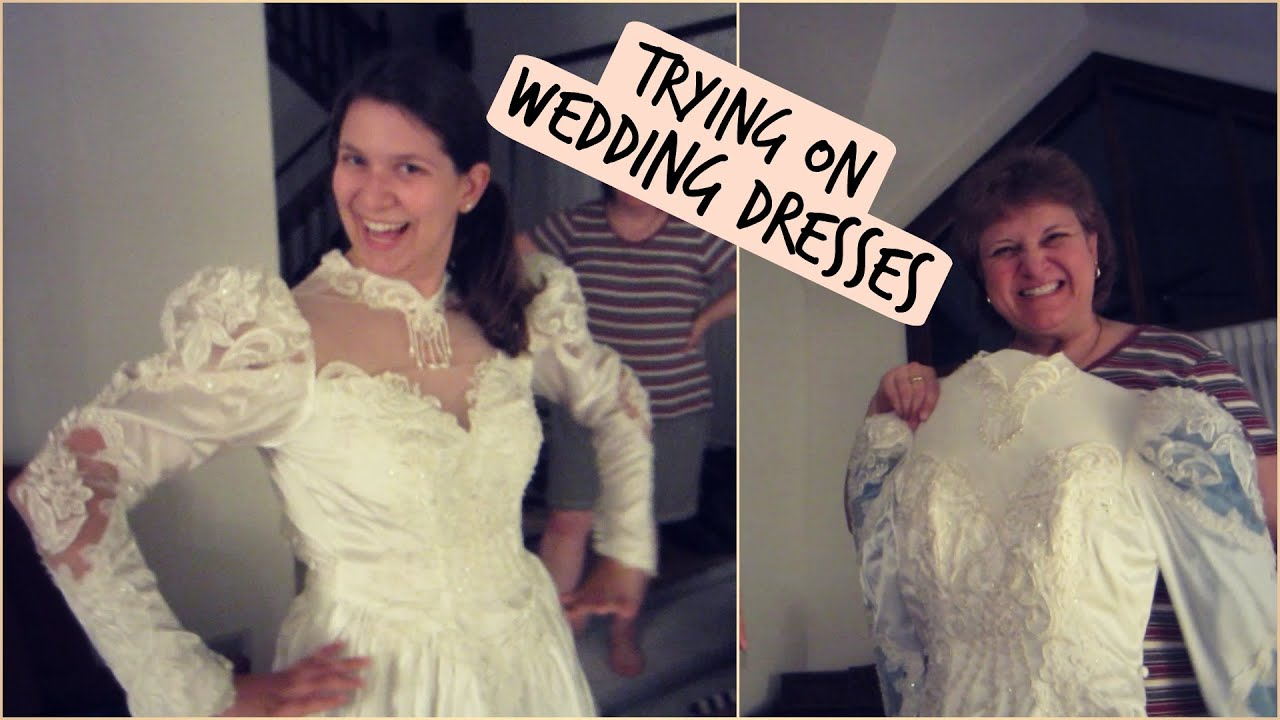 Trying on wedding dresses tewsummer june 3 youtube trying on wedding dresses tewsummer june 3 ombrellifo Images