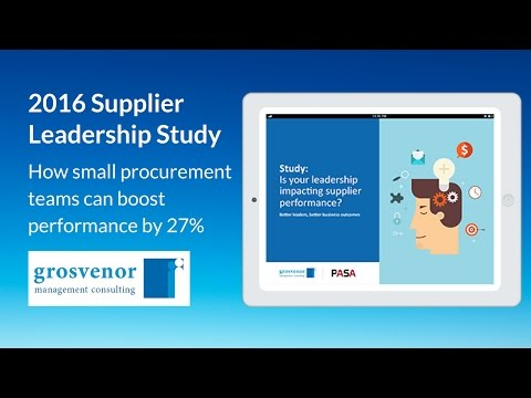 2016 Supplier Leadership Study: How small procurement teams can boost performance by 27%